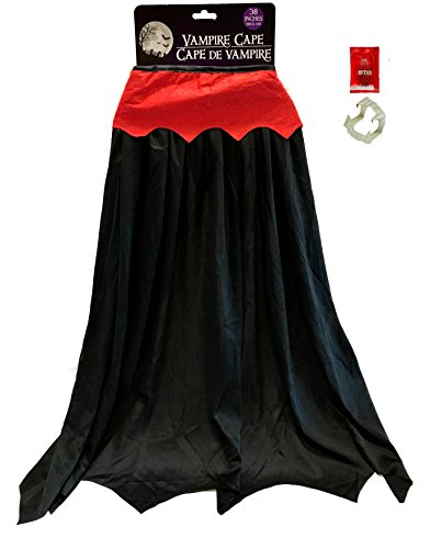 Vampire Dressup - Dracula Costume Boys - Dracula Costume Kids For Girls - INCLUDES VAMPIRE CAPE, BLOODY BITES TEETH (Dracula Costume Ideas)