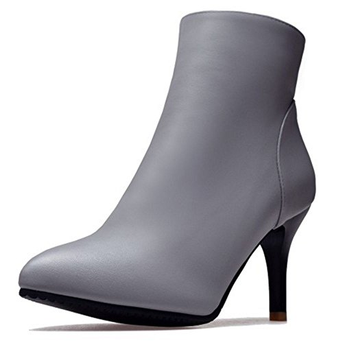 Dress KemeKiss Women Boots Size Ankle High Extra Grey Stylish Heels Shoes wxpqHCxB