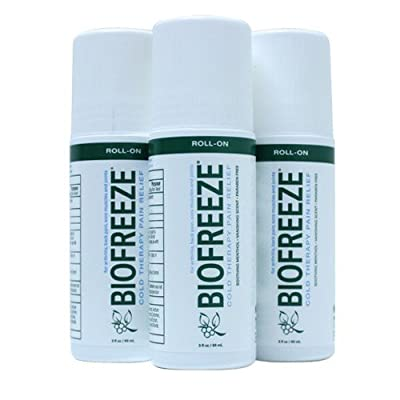 Biofreeze Pain Relieving Roll On, 3-Ounce (Pack of 3) by Bio Freeze
