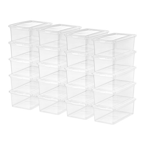 (IRIS USA, Inc. CNL-5 Storage Box, 5 Quart, Clear, 20 Pack)