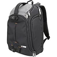 DSLR Camera Backpack Evecase DSLR Camera / 15.6 inch Laptop Travel Daypack For Mirrorless, Micro 4/3 system, High Zoom, Interchangable Lens kit, Professional Full Frame Digital Camera
