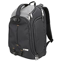 Dslr Camera Backpack Evecase Dslr Camera 15.6 Inch Laptop Travel Daypack For Mirrorless, Micro 43 System, High Zoom, Interchangable Lens Kit, Professional Full Frame Digital Camera