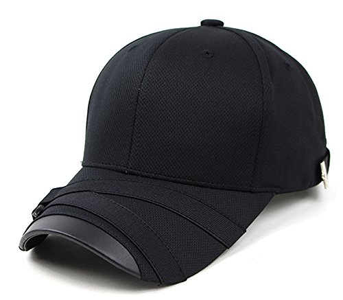 POPKORS Teamlife Max Cool Air Ventilation Mesh Back Performance Sport Outdoor Baseball Cap Hat (Black)