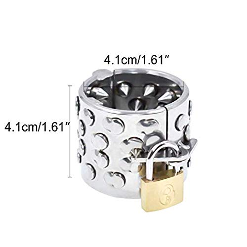 SEX-LUCKY FAT GIRL 2019 New Stainless Steel Teeth 4 line Ring Male Equipment