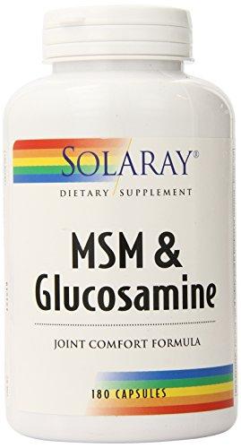 Solaray MSM et Glucosamine Capsules, comte 180
