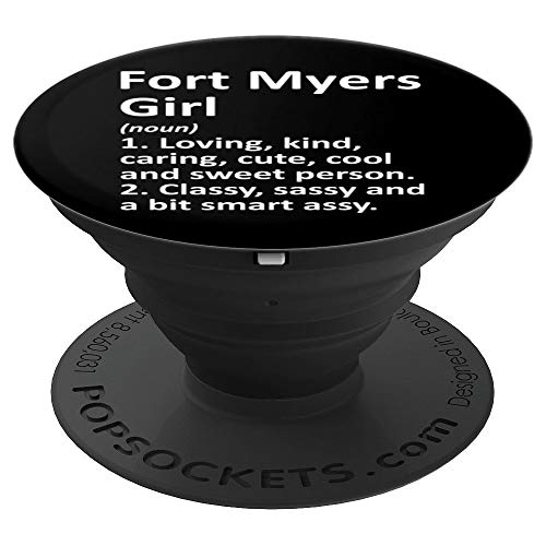 FORT MYERS GIRL FL FLORIDA Funny City Home Roots Gift PopSockets Grip and Stand for Phones and Tablets (Fort Myers On A Map Of Florida)