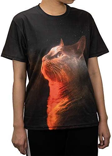 【BIAN YI LONG】猫Tシャツ