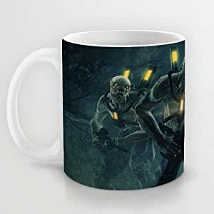 Great Gift Choice - Gaming Mugs,White 11 oz Classic White Ceramic Mugs with Resistance Coffee Mugs/Tea Mugs/Drink Cups - Dishwasher and Microwave Safe
