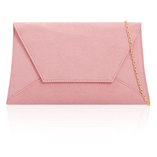 Party Evening Bridesmaid Ladies Large London Bags Clutch Flat Prom Suede Blush Xardi Envelope Women Zz50Pvqw