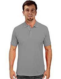 Peach Couture Mens Short Sleeve Classic Pique Polo Shirt