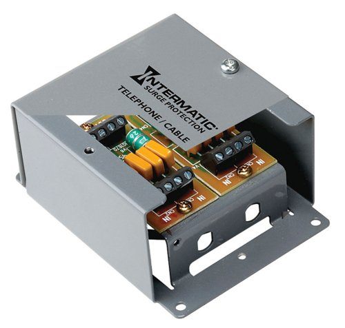 Connector F Coaxial Protector Surge (Intermatic IG4TM  Telephone or Coax Line Surge Protector)