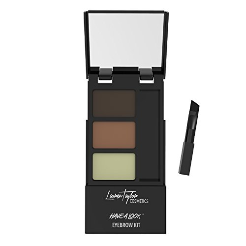 Eyebrow Kit By Lauren Taylor Cosmetics – A Long Lasting Double Powder Palette With Wax, Brush & Mirror. Color Shading Is…