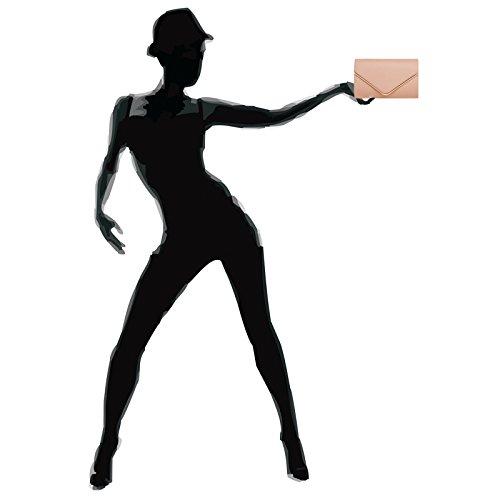 CASPAR Fashion - Cartera de mano para mujer altrosa