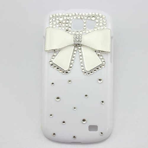 piaopiao bling 3D white case bow cute diamond hard cover for Samsung Galaxy Express i8730