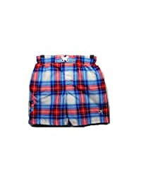 OP Red White & Blue Plaid Checkered Swim Trunks Size 3T