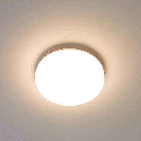Lamparas de Techo LED 15W IP44 1600lm Plafón LED Moderno Redondo Blanco cálido 3000K para Habitacion Cocina Comedor Pasillo Salón Baños Dormitorio