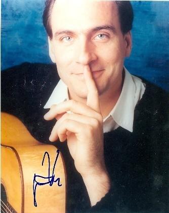 - James Taylor autographed photo 8x10