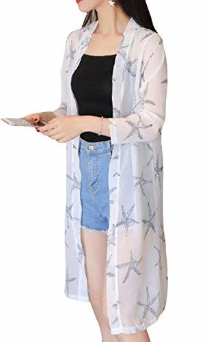 S-XINY ロング カーディガン レディース 花柄 長袖 無地 薄手 春夏 トップス シンプル ゆったり 全22種 UVケア 紫外線 日焼け 冷房対策 カジュアル ファッション