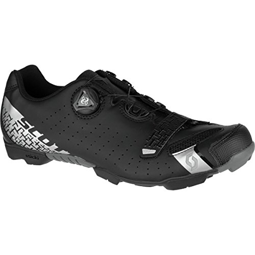 Scott MTB Comp BOA Cycling Shoe – Men's Matte Black/Silver, 42.0