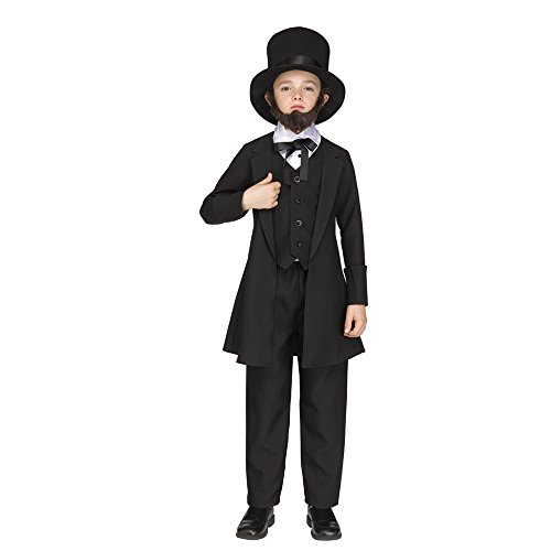 Abraham Lincoln Costume (Abe Lincoln Child Costume - Medium)