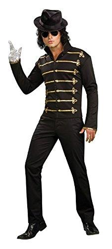 Michael Jackson Military Jacket Adult Costume in Black Size: Medium]()