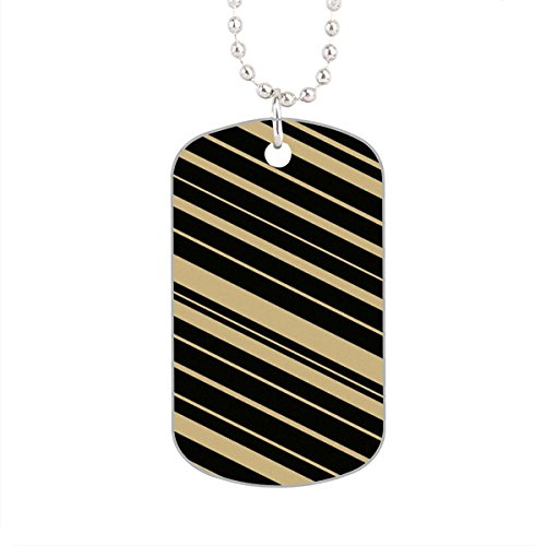 Black And Gold Masculine Design For Him Dog Tag  Aluminum Pet Tag Cat Animal Tag Necklace Pendant Chain Size 1 2 X2 X0 1 Inches In Diameter