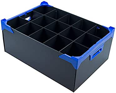 Copa de vino caja de almacenaje – 220 mm Alto, azul, 15 Cells: Amazon.es: Hogar