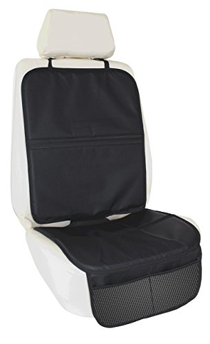 Best Child Car Seat Protector Covers Baby Spills and Stains, Includes Storage Pockets