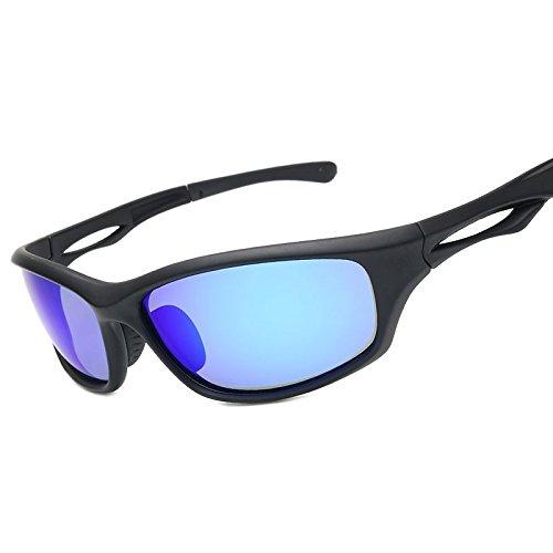 De De Hombres Para De Negra Deportes Matte Color De Uv400 De Hombres Gafas Para La Guía TIANLIANG04 Polarizadas Blue Mate Black Nocturna Deportes Sol Sol Visión Gafas Noche Gafas HBOqwqY