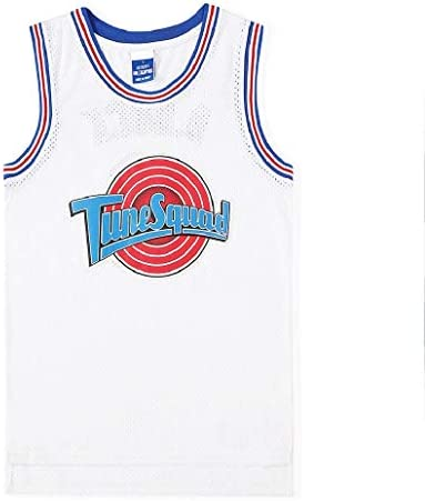Space Jam Jersey #1 Bugs Bunny Rabbit Tune Squad Retro Classic Movie Version Commemorative Edition White Basketball Vest