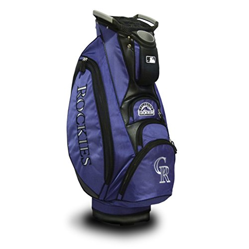 - Team Golf MLB Colorado Rockies Victory Golf Cart Bag, 10-way Top with Integrated Dual Handle & External Putter Well, Cooler Pocket, Padded Strap, Umbrella Holder & Removable Rain Hood