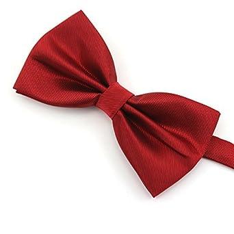 Moda Casual Color Sólido Pajaritas/La Corbata De Lazo Rojo Joker ...