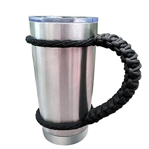 Aprince Handmade Tumbler Handle for Yeti and RTIC Rambler 30 Oz, Fits Ozark Trail, Boss, Eskimo and More Tumblers (30oz Black)