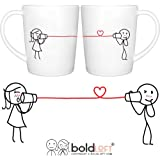 BOLDLOFT Say I Love Too His and Hers Coffee Mugs|Valentines Day Gifts for Boyfriend|Anniversary Gifts for Him|Romantic Gifts for Him|Engagement Gifts for Couples|Matching Coffee Mugs for Couple