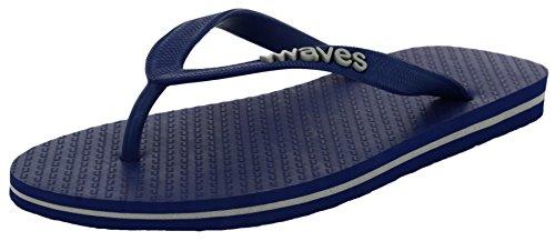 247248158 Waves 100% Natural Rubber Flip Flops for Men Regular Fit Sandals Slippers -  Tapered Collection