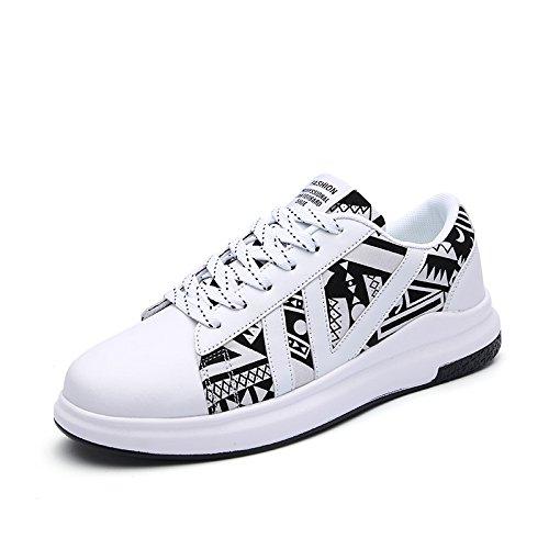 Hasag nuevos Pares de Primavera Zapatos Deportivos Femeninos Ayuda Alta Zapatos Planos de los Estudiantes White A3