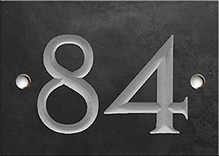 Engraved Slate House Number Sign - Number 25 Same Day Dispatch!!!! 1 to 99 Select Your Number here