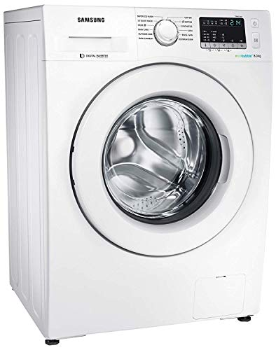 Samsung 8 kg Inverter Fully-Automatic Front Loading Washing Machine (WW80J4243MW/TL, White, Inbuilt Heater, Eco Bubble) 2021 June Fully-automatic front load washing machine: Best Wash Quality, Energy and Water efficient Capacity 8 kg :Suitable for families with 5 or more members ; Other Power Features: 750Wh (Cotton 40 degree celsius) Product Warranty: 3 years on product, 10 years on motor
