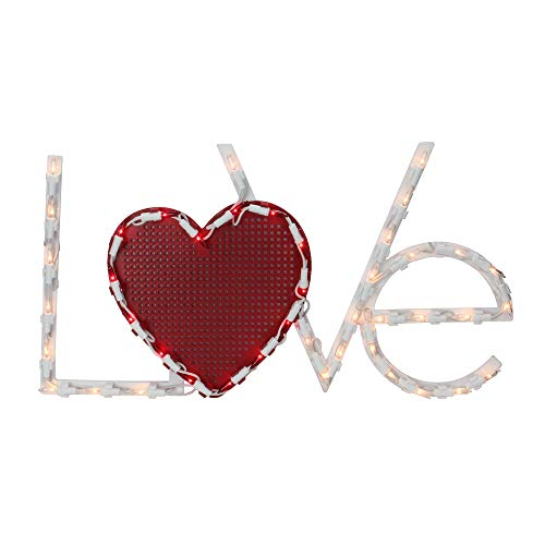 """Northlight 17"""" Lighted Love with Heart Valentine"""