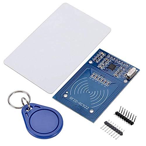 uzinby Arduinoのラズベリーパイのため 互換性 MFRC-522 RFIDキットRF ICカードセンサモジュールS50ブランクカードキーリング 【品質保証】