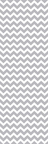 Locker Designz Back to School Magnetic Locker Chevron Wallpaper, Gray