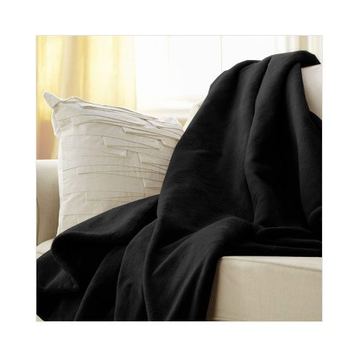 Sunbeam Microplush Heated Throw Blanket, Black (TSM8US-R900-25A45) Black Microplush Throw
