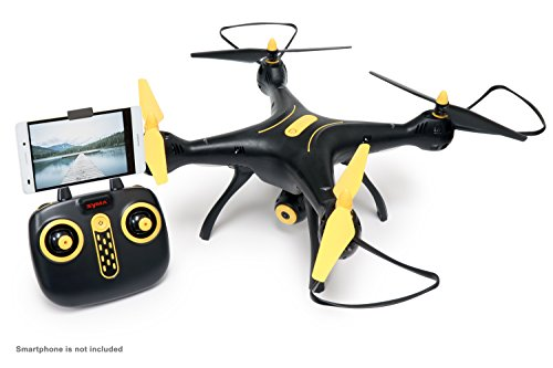 Tenergy-Syma-X8SW-Wi-Fi-FPV-Quadcopter-Drone-720P-HD-Camera-Altitude-Hold-RC-24G-4CH-6-Axis-BlackYellow