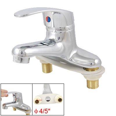 Bathroom Sink Double Hole Chrome Brass Single Handle Basin Faucet