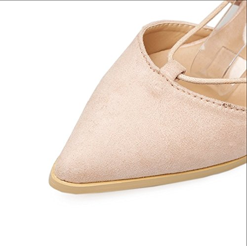 Sandales Color uk6 Tmkoo Marron Hauts Nouveaux Chaussures Us8 Noir Mode Talons eu39 Pointues 5 5 Banquet 2018 Travail Sexy Taille cn40 De Brun IRfRqw6x