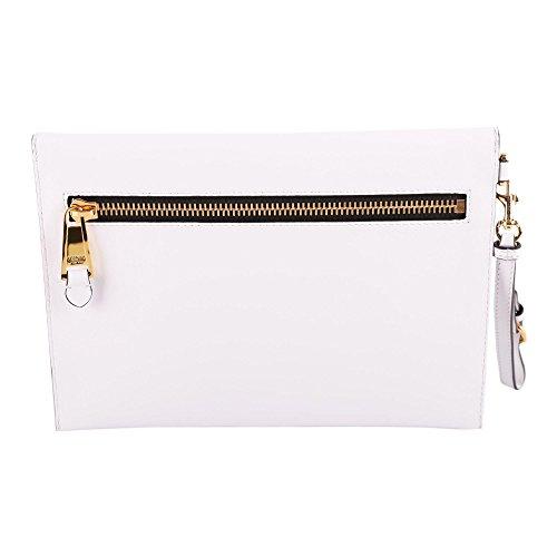 A841480011001 Moschino Bianco Donna Pochette Pelle X6vpn6r