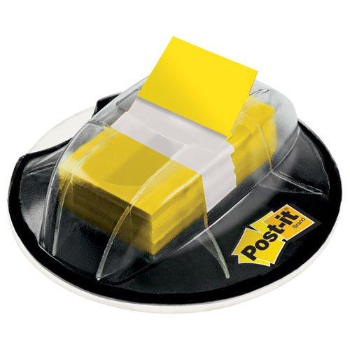 MMM680HVYW Flags in Desk Grip Dispenser, 1 x 1 3/4, Yellow
