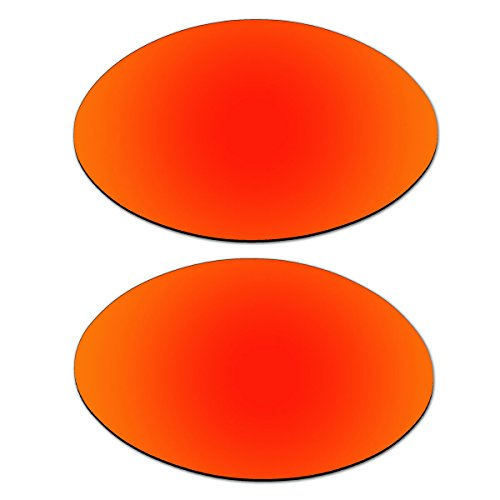 Replacement Fire Red Polarized Lenses for Oakley Eye Jacket (1.0) - Lenses Oakley 1.0 Eye Jacket Replacement