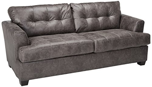 Benchcraft - Inmon Contemporary Upholstered Sofa - Charcoal
