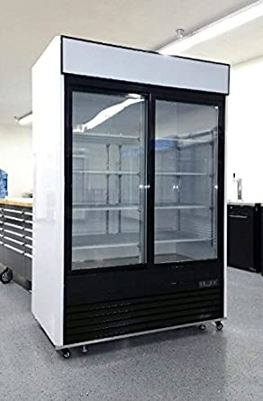 2 door sliding glass merchandiser reach in refrigerator beverage cooler mcf8709 - Beer Merchandiser